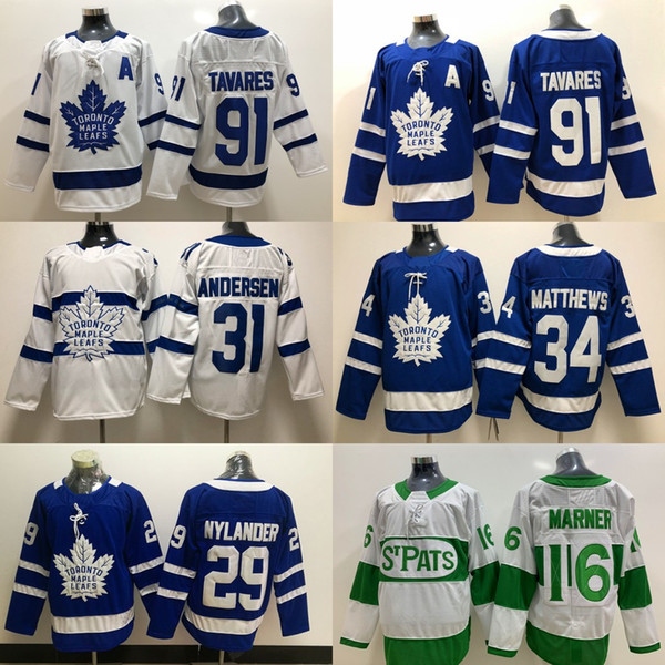 44 Morgan Rielly Jersey Toronto Maple Leafs 16 Mitch Marner #91 JohnTavares 34 Auston Matthews 31 Frederik Andersen Hockey Jerseys