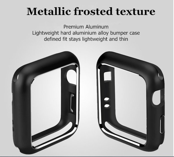 Free Shipping Magnetic Adsorption Metal Aluminum Frame Protective Case for Apple Watch 44MM,40mm,42mm,38mm