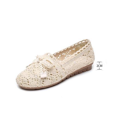 2019 malla de verano zapatos casuales de malla transpirable superficie de malla zapatos de mujer mocasín de suela blanda-gommino