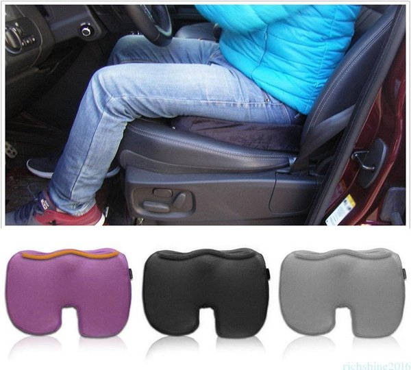 top popular U-Shaped Car Memory Foam Seat Cushion For Back Pain Sciatica Relief Long Drives Pad Car Accessories For Home Office DDA230 2019