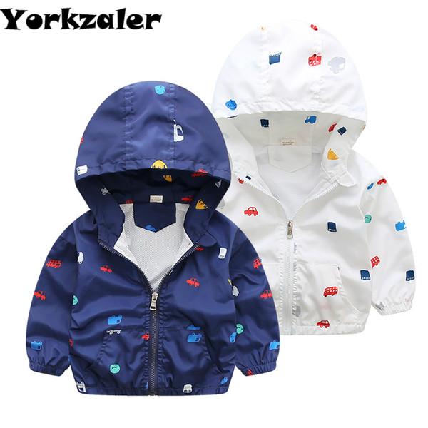 46 Baby Auf Großhandel Von Kleidung Windjacke Curd20 Auto 2019 Jungen Gedruckt Dünne Oberbekleidung Jacke Sommer Kleinkind Langarm iPZukX