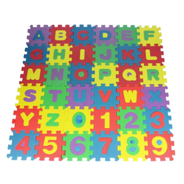 best selling 36 Pieces Kid's Puzzle Exercise Play Mat, Alphabet and Number EVA Foam Interlocking Tiles, Educational Toy for Baby