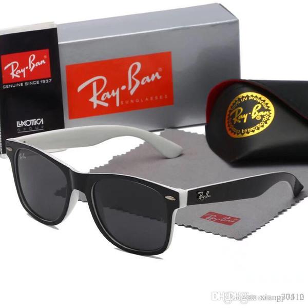 Gafas de sol de lujo 99008 para hombres Gafas de sol de diseño de marca Gafas de sol de abrigo Gafas de sol de piloto Gafas de espejo de espejo de fibra de carbono Estilo de verano