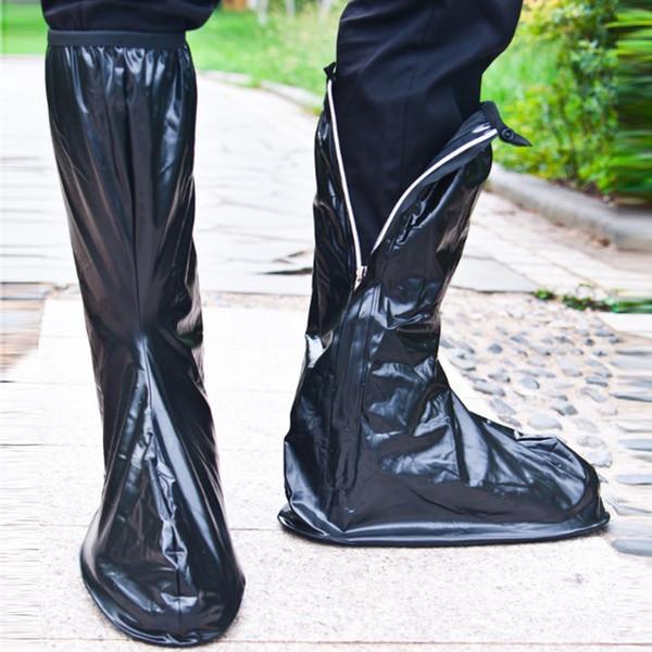 Men Women Transparent Waterproof Shoe Covers PVC Rainy Motorcycle Riding Cycling Non-Slip Overshoes Rain Shoe Covers Protective
