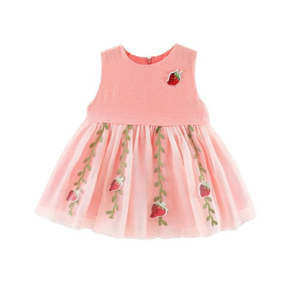 Summer Girl Dress Baby Clothing 1st birthday Princess Dress Strawberry Cute Kids For Girls Newborn Baby Girl Clothes