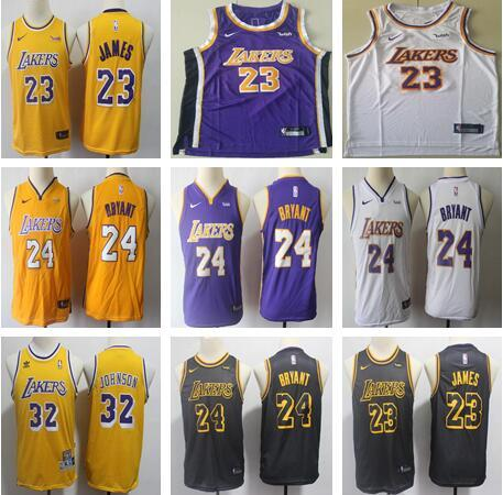 2018 KIDS Lakers 23 LeBron James Jersey 2019 New Los Angeles