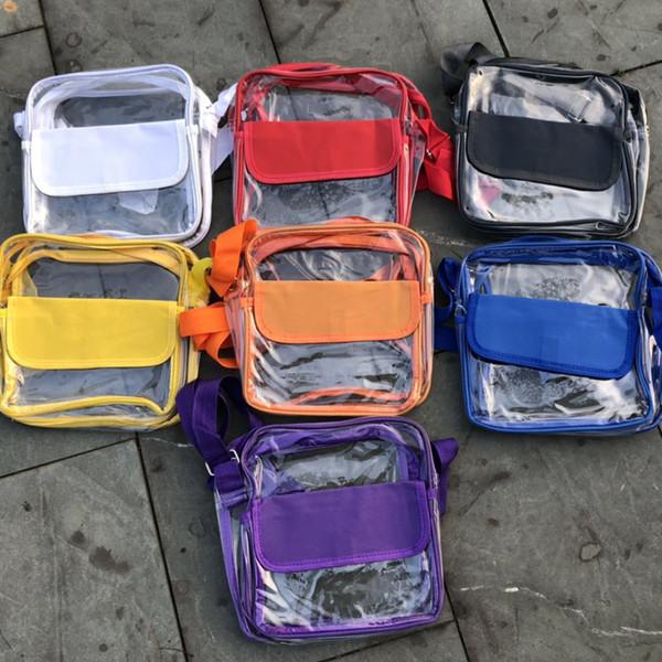 7styles Transparent pvc handbag clear crossbody bag summer beach phone storage bag outdoor fashion travel shoulder hangbag FFA2242
