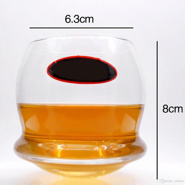 Lot2pcs / set Cadeaux Créatifs Nouveau Whisky Verre Tasse À Eau En Verre Transparent Pour Bière Vin Rouge Tasse À Jus Drinkware 240ML Bars