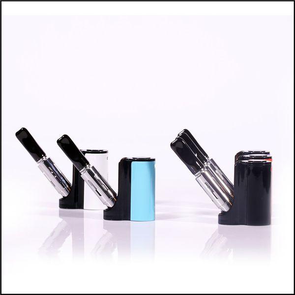 e cigarette box mod vape 510 thread preheating vaporizer 900mah pipe smoking box mod foldable vaporizer for glass oil cartridge smoking