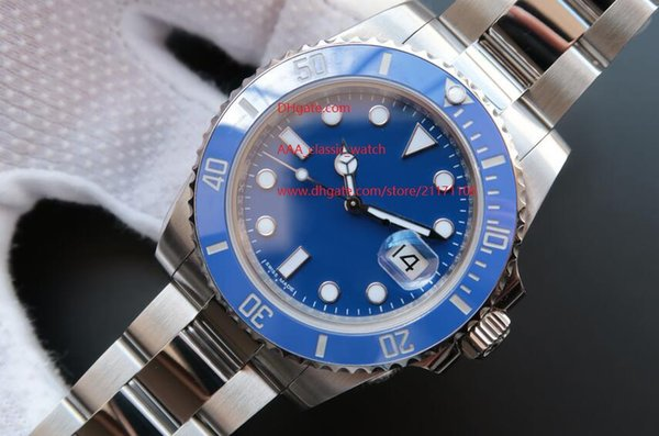 Men's Luxury High Quality AAA Sapphire Automatic Mechanical 116619LB 40mm Blue Ceramic Bezel Dial Luminous Mens Men's Watch Watches