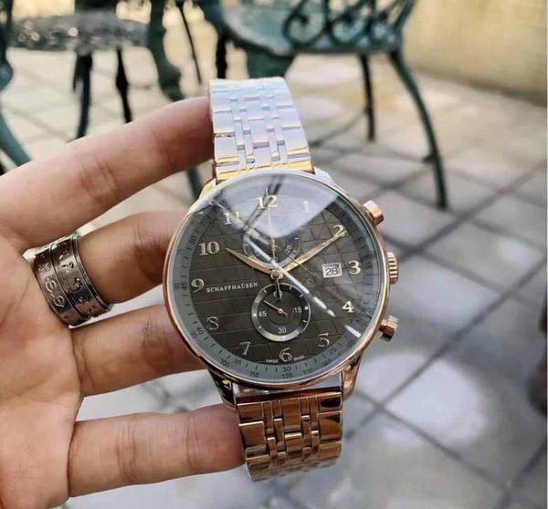 человек роскошь дизайнер часы мужские часы 42мм кварцевый Наручные часы из нержавеющей стали люксусный