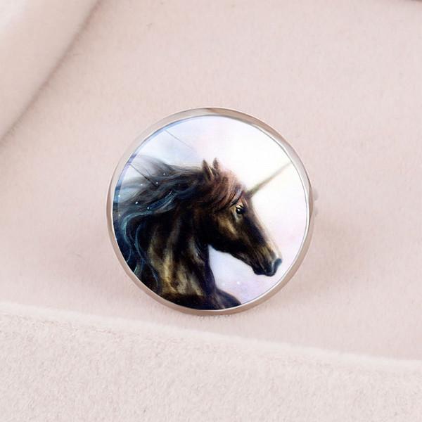 Style1 новые модные аксессуары Европа и Америка Творческий мультфильм детей Единорог Единорог открывание регулировочное кольцо Настраиваемые