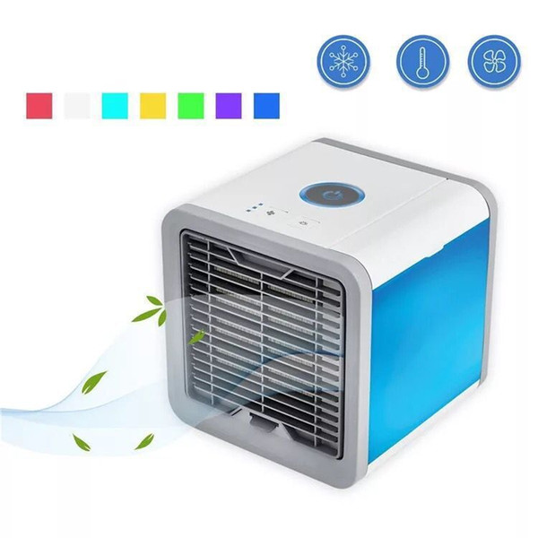 best selling 3 in 1 Portable Mini Air Conditioner air Cooling Fan With 7 Colors LED Lights USB Air Cooler Fan Humidifier Purifier Any Space