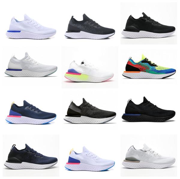 Epic React Fly Tricoter des baskets de sport Noir Gris Vert Rouge Bleu Or Designer Chaussure de course respirante Chaussures de course EUR Taille: 36-45 Sans Boîte