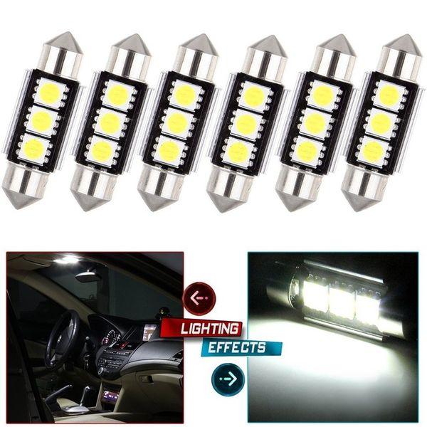 36MM-39MM 2 SMD 5050 12V SUPER RED LED CAR INTERIOR DOME//TRUNK LIGHT//BULB//LAMP