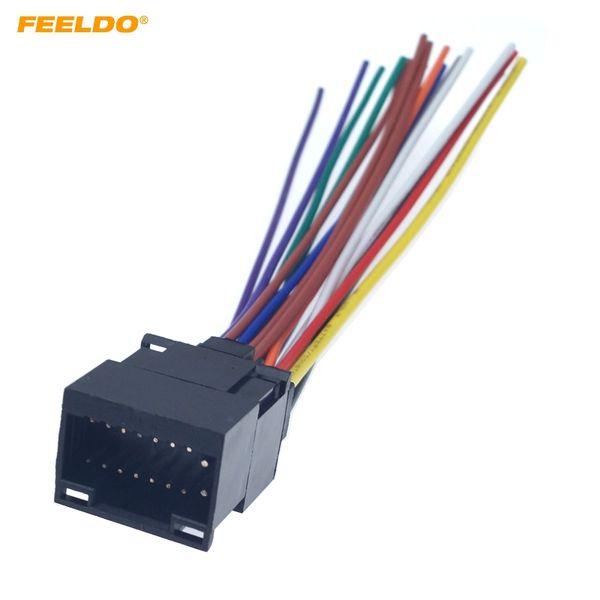best selling FEELDO 16pin Car Radio Stereo Wire Harness Plug Cable For CHEVROLET AVEO LOVA(SEDAN) CHERY LANDWIND Fashion Aftermarket #1606