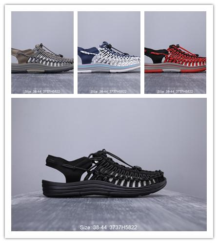 Cool knitted beach sandals casual shoes for men in summer , 38-44 for outdoor shoes-dw145q1d4as21das