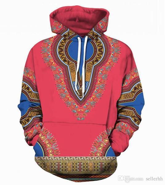 Designer Fashion Sweater Men s And Women s Felpa con cappuccio felpa manica lunga Africa 3d stampa sciolto casual uomini s Hip Hop Street felpa con cappuccio