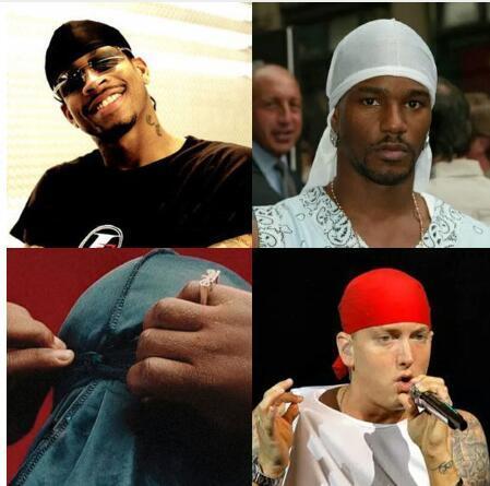 Men Wave Milk fiber Cap Sport Hip Hop Skull Hat Headscarf Headwrap Long Tail Cap
