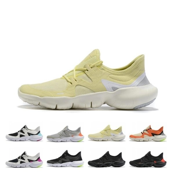 2019 Free RN 5.0 Mens Running Shoes Male Fashion Designer Sports Sneakers Summer Cool Breathable RUN Women Lightweight Knit Shoes 36-46