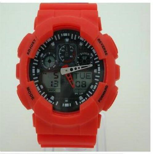 1 UNIDS Venta Caliente Reloj Inteligente Hombres G Estilo Ejército Militar Impermeable Relojes Deportivos Auto Light LED Relojes de Moda Hombre de Goma Reloj GG100