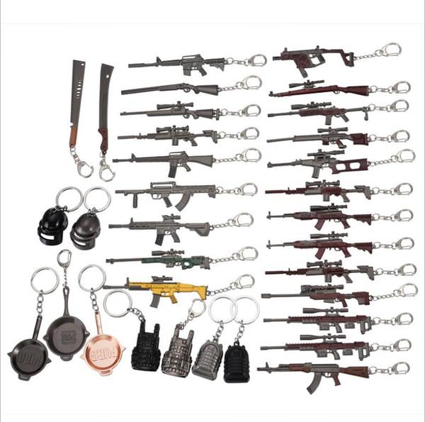 100 шт., Игра CS Jedi Survival BATTLEGROUNDS Пистолет Модель оружия Брелок Мини имитационная модель PUBG Косплей Пистолет оборудование Подарочный брелок
