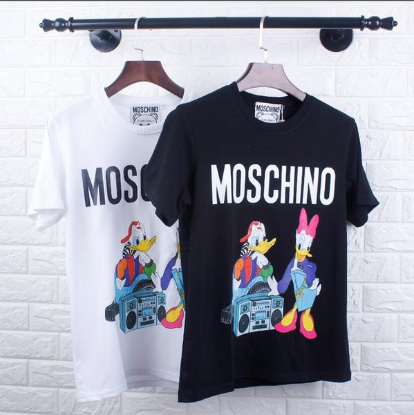 b0a8e5847d353 2019 New Women'S MOSCHINO T Shirt Summer T Shirt And Blouse With Floral  Print Or Neck Sleeve Short Women'S Shirt Women'S Shirt Design 1 T Shirt  Good T ...