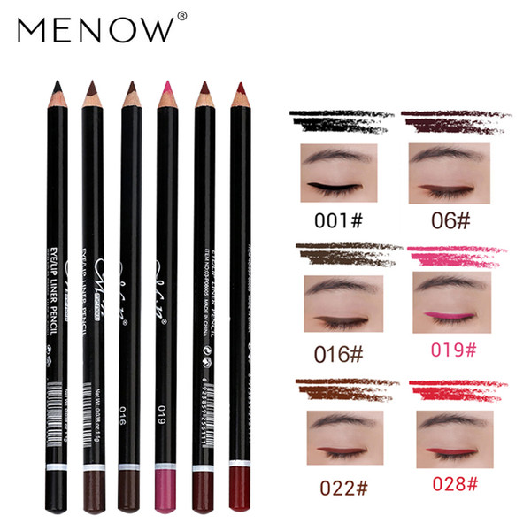 MENOW Brand 6Pcs Multicolor Eyeliner Pencil Eye Shadow Pencil Lip Eyebrow Durable Waterproof Professional Cosmetics Set