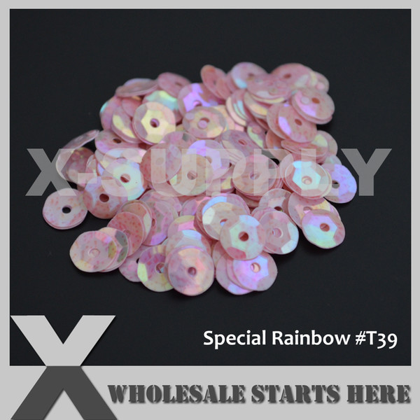 (Special Rainbow Colors) Round Cup Loose Sequin Paillettes for Party Evening Dress,Costume,Nail Art