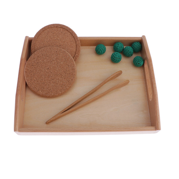 top popular Wool Ball And Tray Combo Children Education Toy For Montessori Education Aid 2020