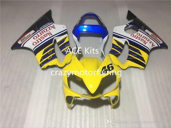 3 Free gifts New Fairing Kits For KAWASAKI Ninja250R 250R EX250 2008 2009 2010 2011 2012 Ninja set fairings bodywork Yellow Blue Ag2