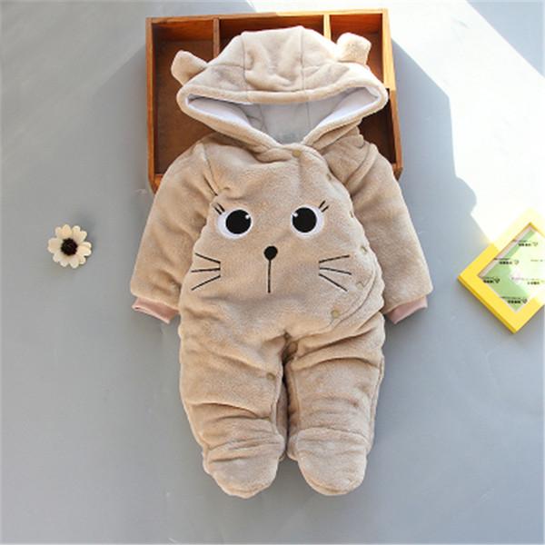 mamelucos del bebé ropa de invierno recién nacido todder infantil de  dibujos animados mono mameluco bebés con capucha mono para las niñas bebé  ropa de ... 9e847e00cb6