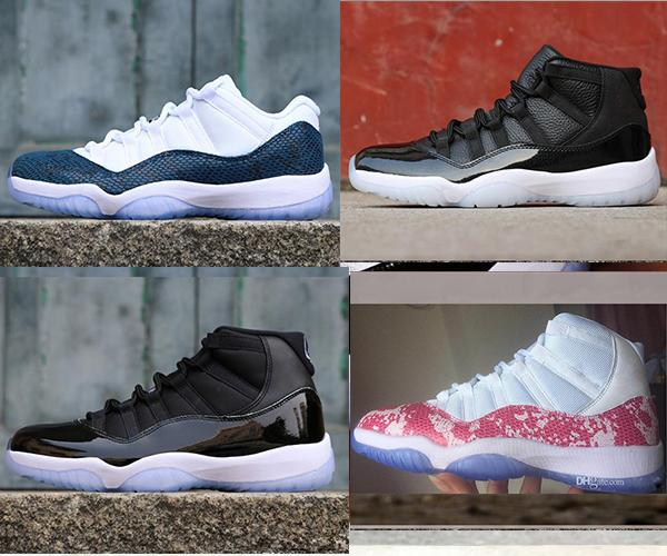 best selling 11 High basketball shoes mens Pink Snakeskin Platinum Tint sports 11s Athletic Navy Blue sneakers Bred Light Bone designer shoes ERU 40-47