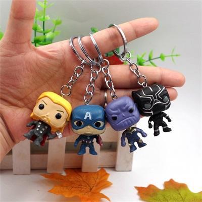 8 Stil Avengers Plastik Bebek oyuncakları Yeni çocuklar Karikatür oyunu funko pop anahtarlık Aksiyon Figürleri Çocuk Oyuncakları