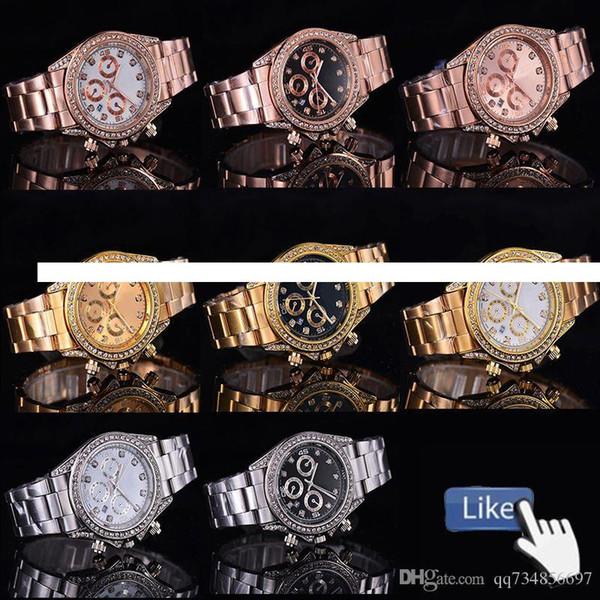 Relógios de alta qualidade por atacado data de quartzo suave 40mm Royal Oak relógios Relógios de aço inoxidável Casual anel de relógio de diamante pulseira de relógio watc