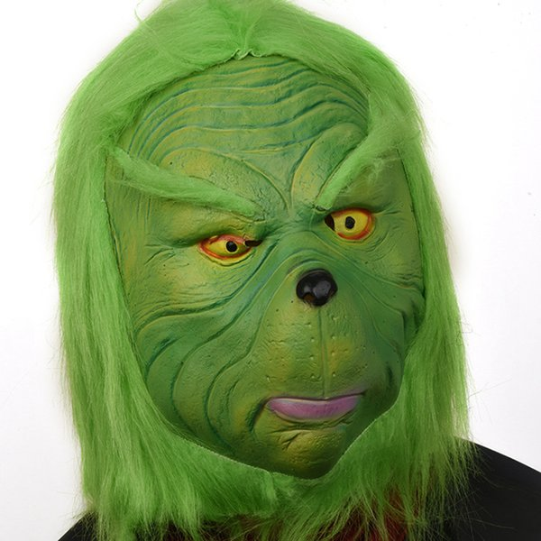 Vert Grinch Drift Mask Christmas Party mascarade Masques Costumes Cosplay Accessoires Coiffures Visage Masque drôle Performance RRA2597