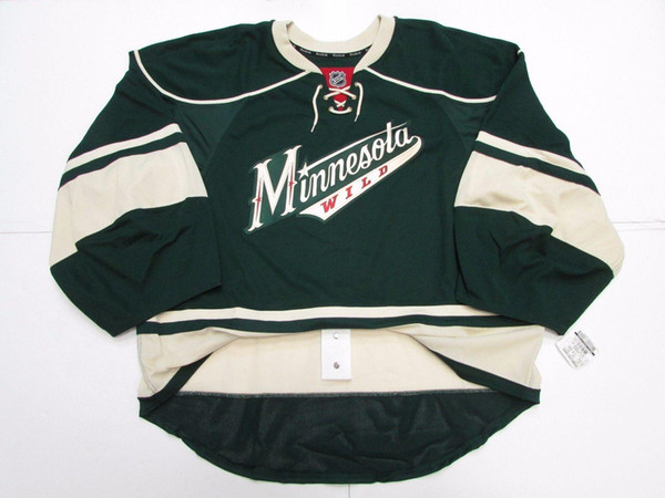Cheap custom MINNESOTA WILD THIRD JERSEY GOALIE CUT 60 stitch add any number any name Mens Hockey Jersey