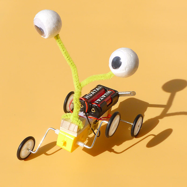 experimental teaching aids and equipment for small-scale scientific technological inventions electric motor robot crawler toys wholesale