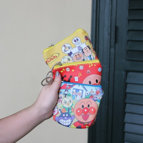 IVYYE 1PCS Anpanman Anime PU Coin Purse Cartoon Soft Change Bags Coins Pouch Money Wallet Card Key Storage Gift