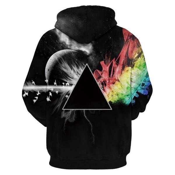 Rainbow Graphic 3D Print Women Men Sweater Hoodie Sweatshirt Tops Jacket Jumpers