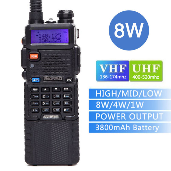 best selling Baofeng UV-5R8W walkie talkie 3800mAh Battery Tri-Power 8W 4W 1W Two way radio 10 km Dual Band VHF&UHF CB Radio