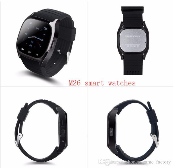 Bluetooth Wrist Smart Watch M26 Waterproof Smartwatch Call Music Pedometer Fitness Tracker For Android Smart Phone PK A1 DZ09 GT08