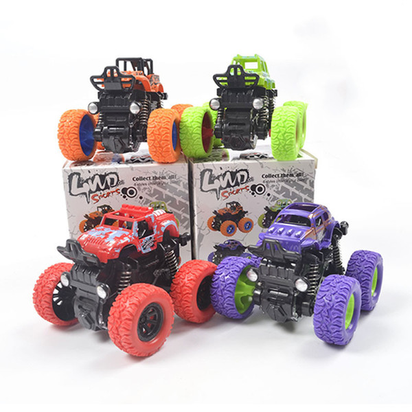 Hot Selling inertia Four-wheel Drive Off-road Vehicle Child Simulation Model Car Anti-falling Toy Car Baby Car Model Kid's Toys