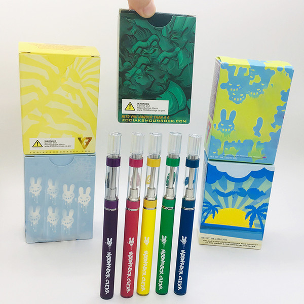 Moonrock Очистить Слейте Vape Pen картридж Одноразовые наборы E-сигареты 350mAh Vape Батарея разряжена испарителем 0,8 мл 1мл Масляные Форсунки Starter Kits