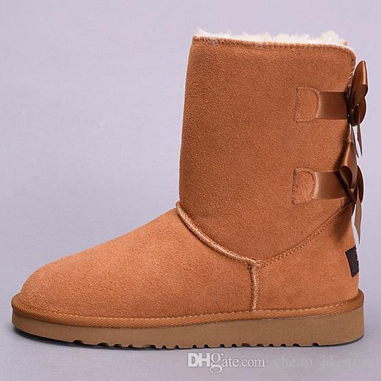 winter Australia Classic snow Boots good fashion WGG tall boots real leather Bailey Bowknot women's bailey bow Knee Boots mens shoe