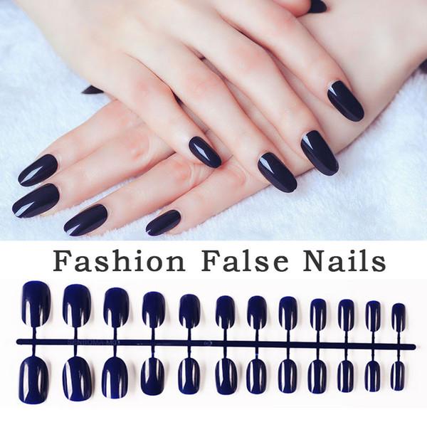 Lghzlink Nail Art Maniküre 24pcs Glossy Tipps für falsche Nägel gefälschte Nägel Forms für Erweiterung Maniküre Kunst falsch
