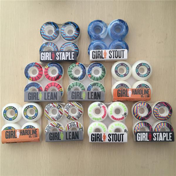 Frete Grátis Plástico 51mm MENINA Skate Rodas de Skate Rodas de Skate Rodas para Forma de Skate