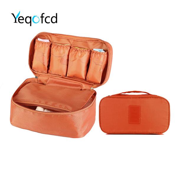 Yeqofcd Emballage Organisateur Soutien-Gorge Sous-Vêtements Sac Voyage Lingerie Poche Trousse De Toilette Organisateur Cosmétique Maquillage Sacs Trousse De Stockage De Bagages