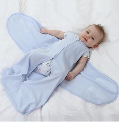 65cm heiße Baby-Krippen-Kindheits-Nixe-Schlafsack-Karikatur-Flügel-Art-Baumwollbettwäscheanzug-reine Farben-Schlafsäcke neu eingetroffen