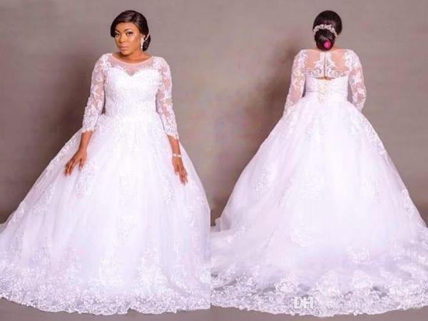 7dd1dc6b4 Vestidos de novia de talla grande Vestidos de novia africanos Vestido de  novia de encaje de